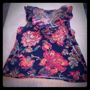 Ralph  Lauren Xl floral tank top black and pink